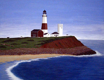 Painting - Montauk Point Lighthouse by Frederic Kohli
