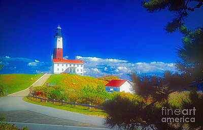 Photograph - Montauk Point Lighthouse by Larry Mulvehill