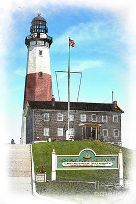 Photograph - Montauk Point Lighthouse Wc by Judy Wolinsky