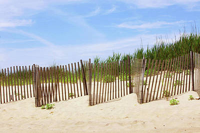Sand Fences Photograph - Montauk Sand Fence by Art Block Collections