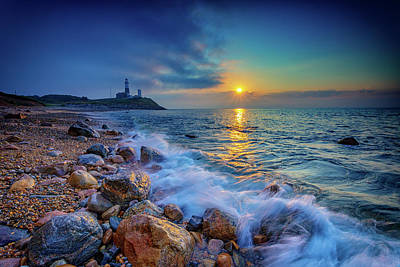 Montauk Sunrise Art Print by Rick Berk