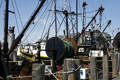 Photograph - Montauk Trawlers by Christopher Kirby