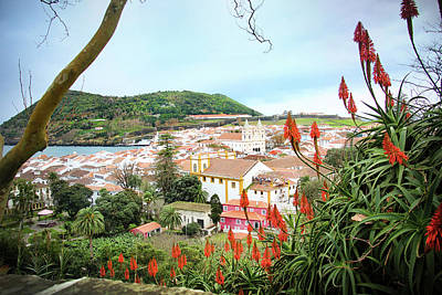 Photograph - Monte Brasil And Angra Do Heroismo, Terceira by Kelly Hazel