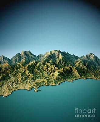 Digital Digital Art - Monte Carlo 3d View South-north Natural Color by Frank Ramspott