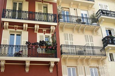 Photograph - Monte Carlo Balconies by David Birchall