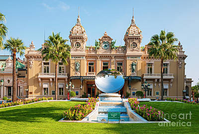 Monte Carlo Casino And Sky Mirror In Monaco Art Print