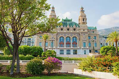 Facing Photograph - Monte Carlo Casino by Elena Elisseeva