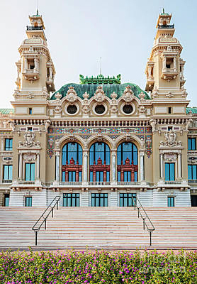 Monte Carlo Casino In Monaco Art Print