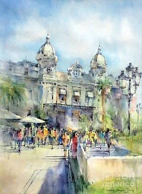 Painting - Monte Carlo Casino - Monaco by Natalia Eremeyeva Duarte