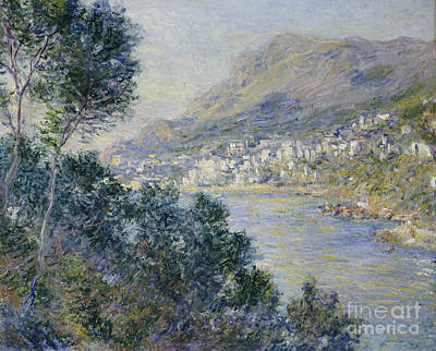 Port Town Painting - Monte Carlo by Claude Monet