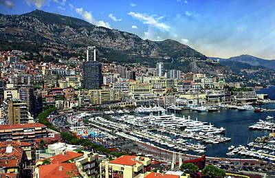 Photograph - Monte Carlo Harbor View by Anthony Dezenzio