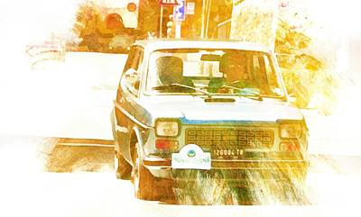 Digital Art - Monte Cetona Classic Car Rally Participants 12 Fiat 127 by Dorothy Berry-Lound