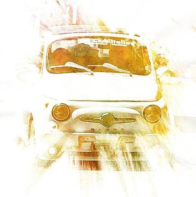 Digital Art - Monte Cetona Classic Car Rally Participants 15 Fiat 500 by Dorothy Berry-Lound