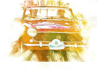 Digital Art - Monte Cetona Classic Car Rally Participants 18 Fiat 1500 Cabriolet by Dorothy Berry-Lound