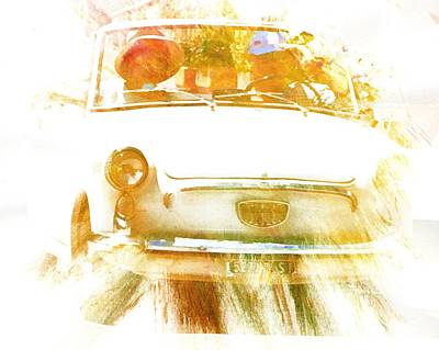 Digital Art - Monte Cetona Classic Car Rally Participants 21 Autobianchi Bianchina Cabriolet by Dorothy Berry-Lound
