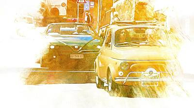 Digital Art - Monte Cetona Classic Car Rally Participants 23 by Dorothy Berry-Lound