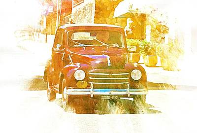Digital Art - Monte Cetona Classic Car Rally Participants 26 Fiat 500c by Dorothy Berry-Lound