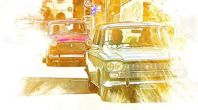 Digital Art - Monte Cetona Classic Car Rally Participants 33 by Dorothy Berry-Lound