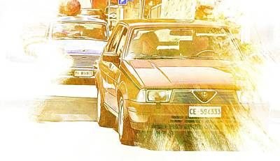 Digital Art - Monte Cetona Classic Car Rally Participants 34, Alfa Romeo 155 by Dorothy Berry-Lound