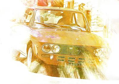 Digital Art - Monte Cetona Classic Car Rally Participants 36 Lancia Hf by Dorothy Berry-Lound