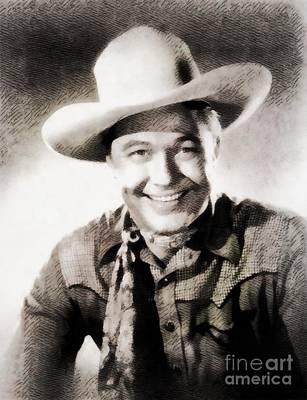 Monte Hale, Vintage Actor Art Print by John Springfield