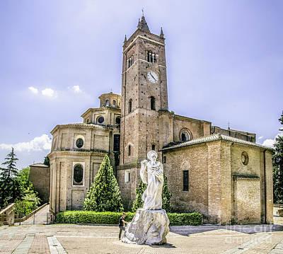 Gravure Photograph - Monte Oliveto Maggiore Canvas- Asciano - Siena Prints  Tuscany Squared Format by Luca Lorenzelli