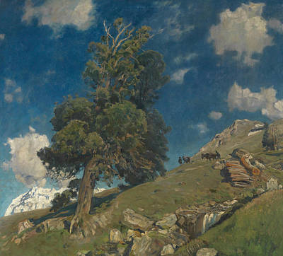 Painting - Monte Rosa And Arven by Eugen Bracht