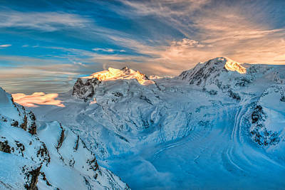 Photograph - Monte Rosa And Liksam Mountains With Glaciers by Brenda Jacobs