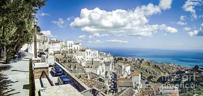 Leinwand Photograph - Monte Sant Angelo Canvas - Panorama Prints Adriatic Sea - Gargano Italy Quadri by Luca Lorenzelli
