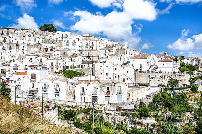 Gravure Photograph - Monte Sant Angelo Canvas - Prints South Italy Village - Gargano  by Luca Lorenzelli