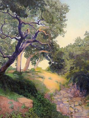Painting - Montecito Dry River Oaks by Andrew Danielsen