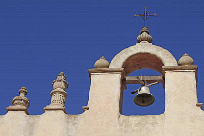 Our Lady Of Mt Carmel Photograph - Montecito Mt. Carmel Church Tower by Art Block Collections