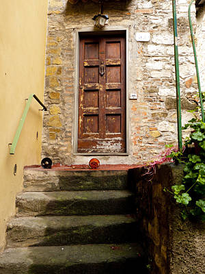 Greve In Chianti Photograph - Montefioralle Door by Rae Tucker