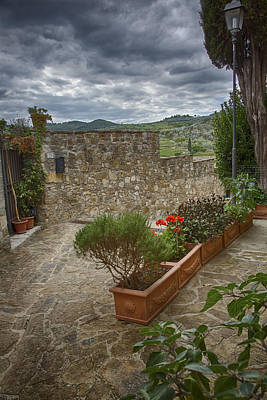 Photograph - Montefioralle Tuscany 4 by Kathy Adams Clark