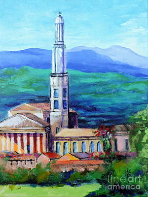 Painting - Monteforte D'alpone Italy by Jodie Marie Anne Richardson Traugott          aka jm-ART