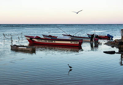 Photograph - Montego Bay Fishing Scene by Steven Richman