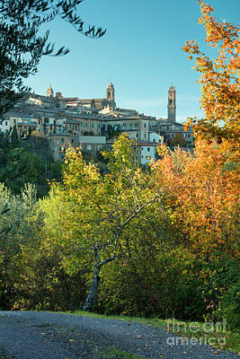 Gravel Road Photograph - Montalcino View by Brian Jannsen