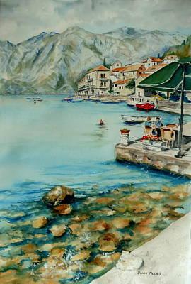 Wall Art - Painting - Montenegro Coast I by Sonia Mocnik