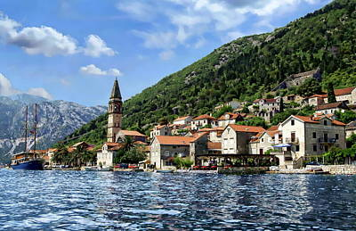 Photograph - Montenegro Coastal View by Anthony Dezenzio