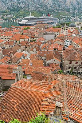 Photograph - Montenegro Kotor Rooftops by Antony McAulay