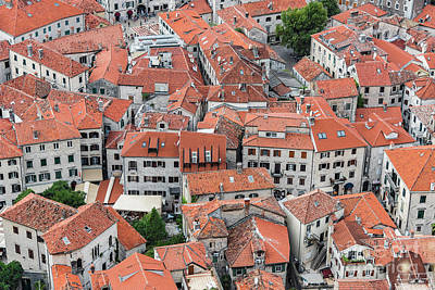 Photograph - Montenegro Kotor Rooftops From Above by Antony McAulay
