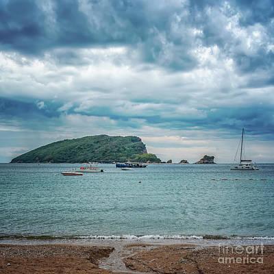 Photograph - Montenegro Sveti Nokola From Coastline by Antony McAulay