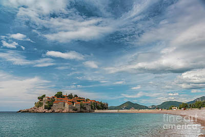 Photograph - Montenegro Sveti Stefan Islet by Antony McAulay