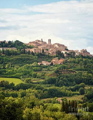 Tuscan Hills Painting - Montepulciano by Antonio Gravante