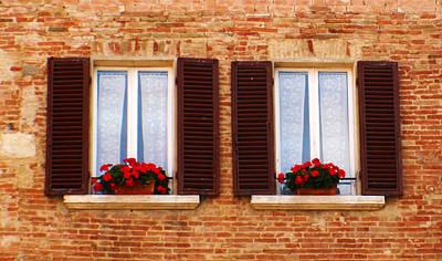 Montepulciano Window Art Print