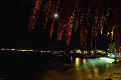Moonlit Night Photograph - Monterey Bay - Cannery Row by Soli Deo Gloria Wilderness And Wildlife Photography