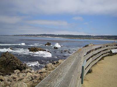 Photograph - Monterey Beach Rail California Usa by John Shiron