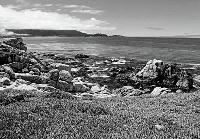 Photograph - Monterey Black And White by Judy Vincent