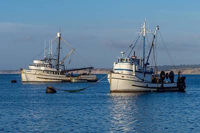Photograph - Monterey Fishing Boats by Derek Dean
