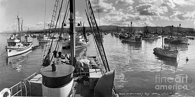Photograph - Monterey Fishing Fleet In Monterey Harbor 1941 by California Views Mr Pat Hathaway Archives